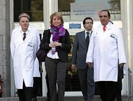 Esperanza Aguirre elige un acto de Sanidad para su regreso