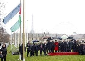 La bandera de Palestina ondea en la sede de la UNESCO
