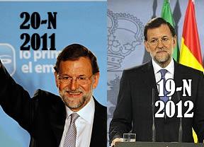 Rajoy celebra su año de la victoria electoral apostando por que