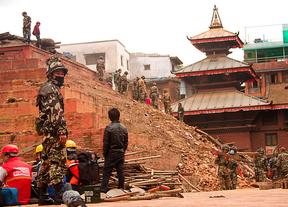 En el terremoto de Nepal: