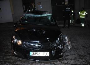 Un coche circula boca abajo durante 60 metros en pleno Casco Histórico de Toledo: el conductor iba ebrio