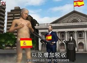 Una cadena taiwanesa se burla del Rey, Rajoy y de la crisis económica