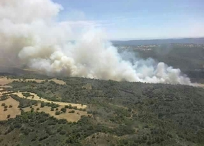 Medio Ambiente amplía el dispositivo enviado a Valdeconcha (Guadalajara) con 8 aeronaves y 2 brigadas más