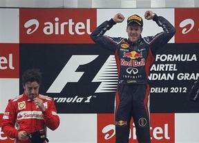 Vettel gana por delante de Alonso y amplía su ventaja en el Mundial