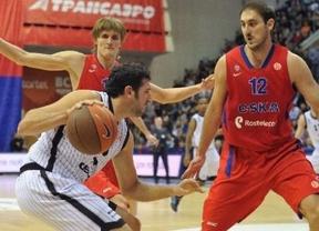 El CSKA de Moscú logra ante el Gescrap de Bilbao el 1-0 en su 'play-off' de cuartos de final de la Euroliga