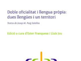 Premi Lupa d'Or per al llibre Doble oficialitat i llengua pròpia: dues llengües i un territori, de Josep Maria Puig Salellas