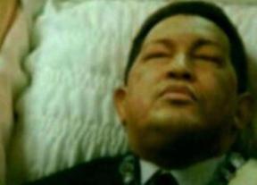 Un fotomontaje de Hugo Chávez en el que aparecía en un ataúd hizo creer en su fallecimiento