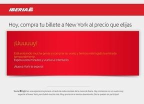 Iberia pospone la promoción a Nueva York tras saturarse los servidores