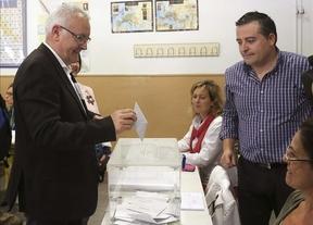 Cayo Lara anima a acudir a votar porque hoy se juega parte del futuro en Europa