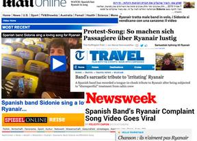 La 'canción de amor' de Sidonie a Ryanair se hace viral en medio mundo