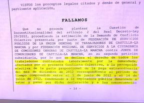 La Junta tendrá que pagar la extra de Navidad 2012 a su personal laboral