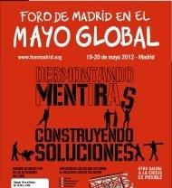 El Foro Social de Madrid, a desmontar mentiras