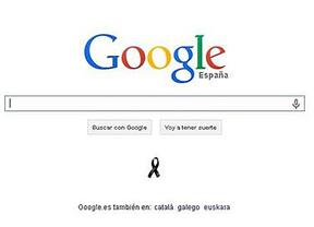 Google recuerda a las víctimas del 11-M con un crespón negro