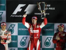 Fernando Alonso gana el GP de COrea y ya es el nuevo líder del Mundial