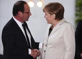 Hollande consigue finalmente 'audiencia' con Merkel superando incluso los obstáculos de la naturaleza