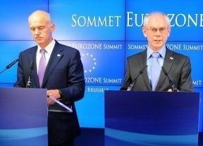 Papandréu, Juncker y Van Rompuy preparan la cumbre del 23