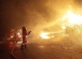 El fuego de Almorox podría afectar hasta 1.300 hectáreas