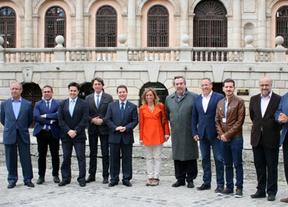 Carme Chacón y Belloch de visita a la exposición 'El griego de Toledo' con García-Page