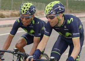 Valverde y Quintana, compañeros en el Movistar... y rivales en las últimas 'clásicas'