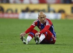 Guardiola pierde por lesión ante su exequipo a dos jugadores clave en el Bayern: Robben y Lewandosky