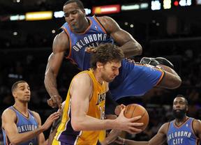 Oklahoma pasa por encima de Gasol y sus Lakers, que siguen en caída libre (93-102)