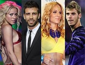 Edurne y De Gea eclipsan a Shakira y Piqué