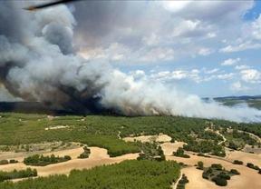 Un incendio en Almansa quema 400 hectáreas y provoca la muerte de un piloto de helicóptero