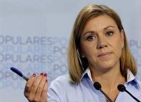 Rajoy no sólo no prescinde de Cospedal, sino que la elogia públicamente ante el sector crítico del partido