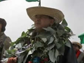 Encendidos discursos contra Evo Morales durante el recibimiento a los marchistas