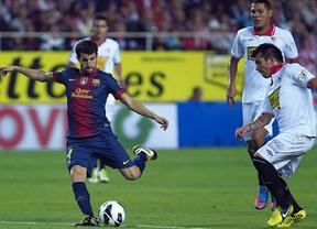 La suerte del campeón da al Barça la victoria en el último suspiro ante un Sevilla mejor (2-3)