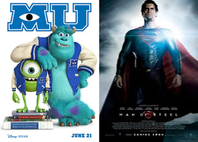 'Man of Steel' y 'Monstruos University': duelo de titanes en la cartelera