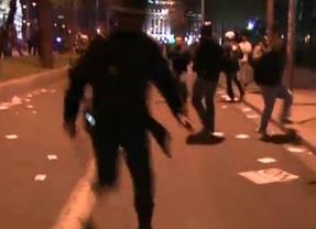 Cargas policiales y varios detenidos ponen el negro punto final a la 'Marcha de la Dignidad'