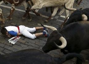 Los toros de Victoriano del Río se lucieron en el encierro más rápido de los sanfermines 2013