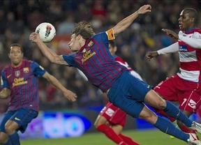 Messi bate el récord de César y acerca al Barça a la cabeza (5-3)