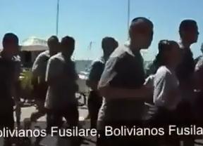 Marineros chilenos, pillados coreando: 'Argentinos matar�, bolivianos fusilar�, peruanos degollar�'