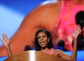 Los demócratas reaccionan luciendo a Michelle Obama para no perder voto femenino