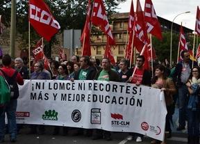Miles de personas en las manifestaciones contra la 'Ley Wert' en Castilla-La Mancha