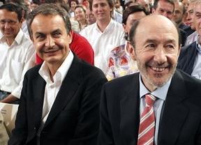 Rubalcaba convierte su mitin de Málaga con Zapatero en un 'acto intergeneracional'