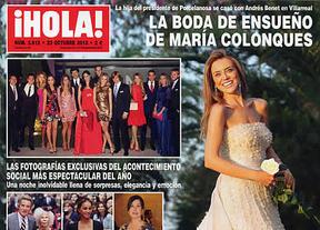 La boda de la hija del due�o de Porcelanosa acapara las revistas del cuore