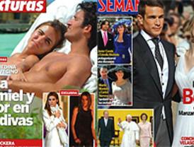 Bodas, lunas de miel y otros eventos familiares en las revistas del corazón
