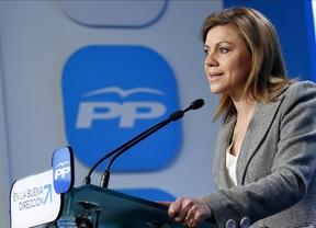 Cospedal tacha de 'fascistas' a quienes atacan las sedes del PP en Cataluña