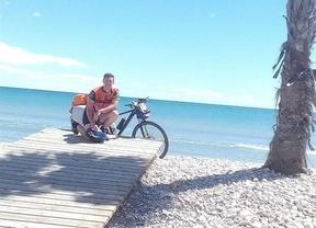 Un joven albaceteño que ha viajado desde Alemania en bicicleta vuelve este viernes a casa