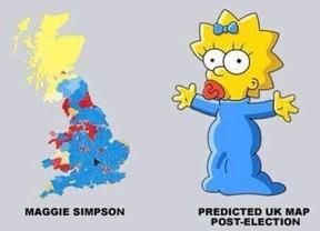 Maggie Simpson, nuevo 'estandarte' de Reino Unido