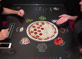 Mesas táctiles: el último grito para pedir pizza de la forma más original