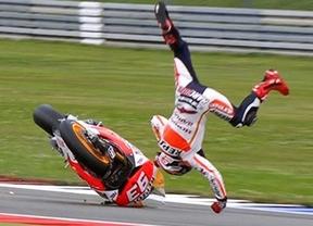 Holanda, carrera maldita para los españoles: tras Lorenzo, caída de Márquez, aunque podrá correr