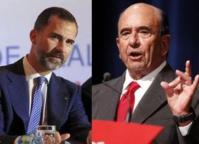 El Príncipe y Botín, embajadores del optimismo económico
