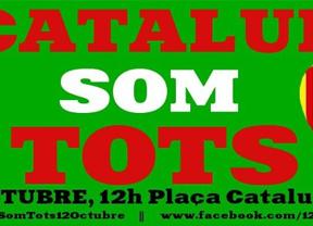 12-O: Cataluña convoca otra manifestación masiva, pero esta vez de los catalanes 'españoles'
