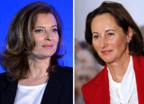 Hollande y sus mujeres: la Primera Dama francesa respalda al rival de la ex esposa del presidente