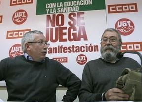 Los sindicatos echan un pulso al Gobierno y miden sus fuerzas en protesta por los recortes en Sanidad y Educación
