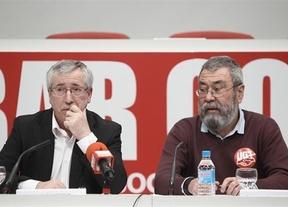 Méndez y Toxo advierten al rey de que un nuevo rescate sería un